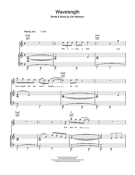 Wavelength Sheet Music