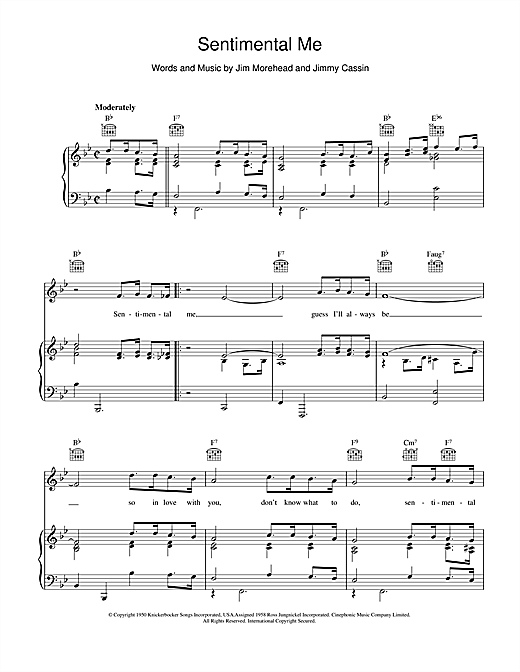 Sentimental Me Sheet Music