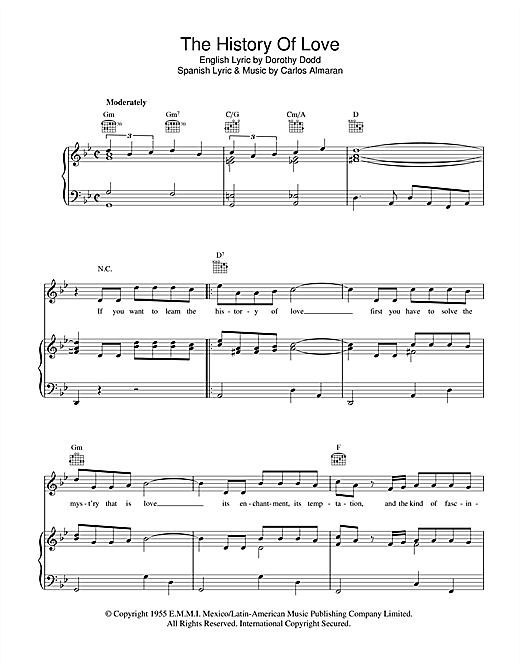 History Of Love (Historia De Un Amor) Sheet Music