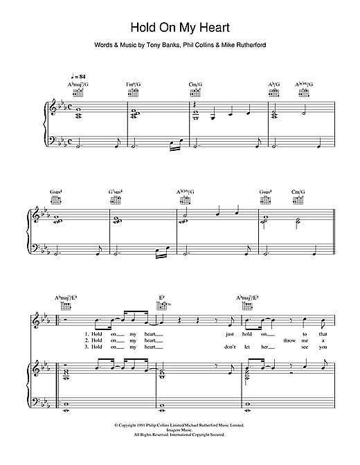 Hold On My Heart Sheet Music