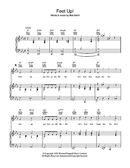 Feet Up Sheet Music