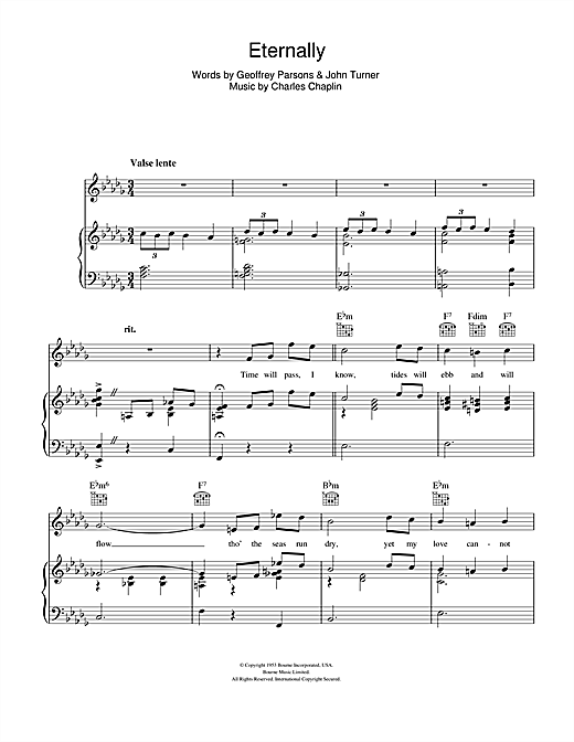 Eternally Sheet Music