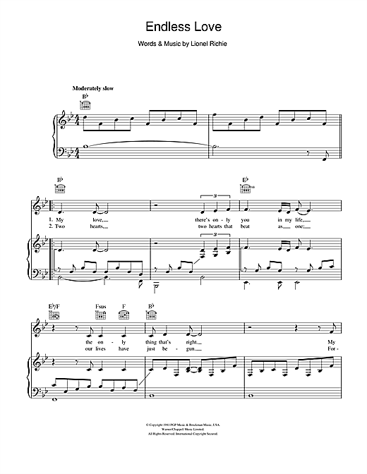 Endless Love Sheet Music