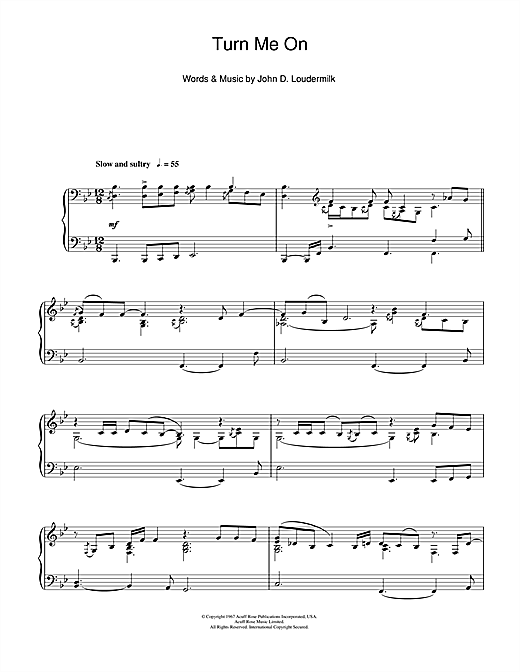 Turn Me On Sheet Music