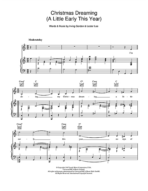 Christmas Dreaming Sheet Music