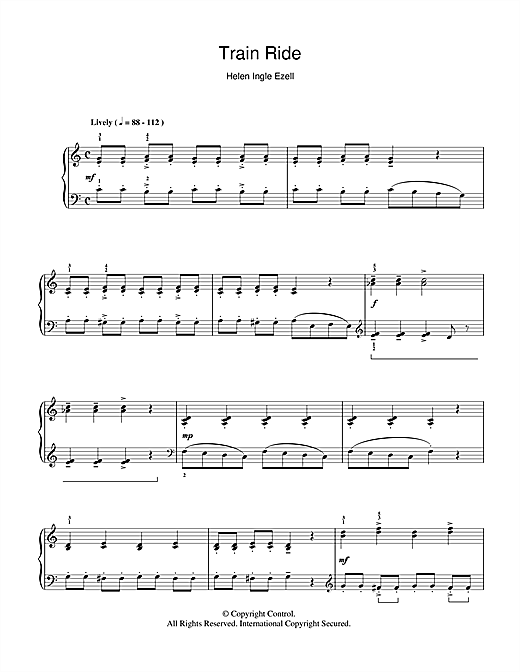 Train Ride Sheet Music