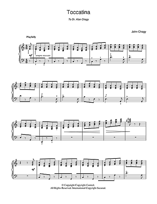 Toccatina Sheet Music