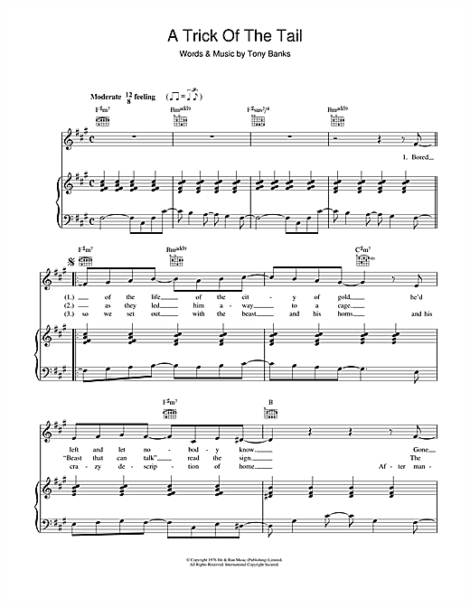 A Trick Of The Tail Sheet Music