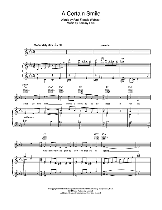 A Certain Smile Sheet Music