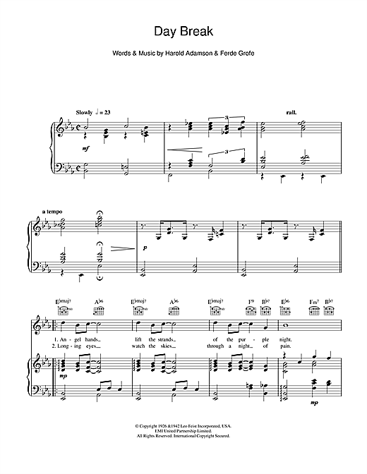Day Break Sheet Music