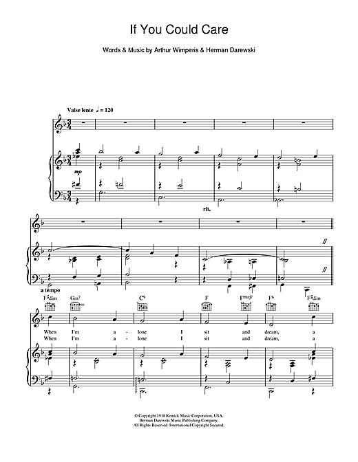 If You Could Care Sheet Music