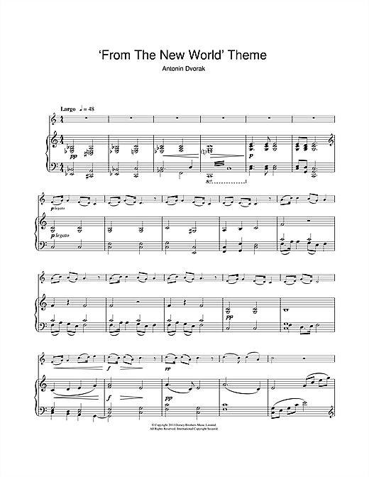 Largo (from The New World) Sheet Music