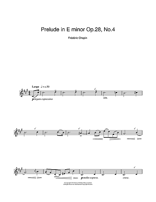 chopin prelude in e minor how to play