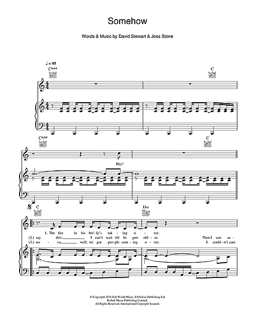 Somehow Sheet Music