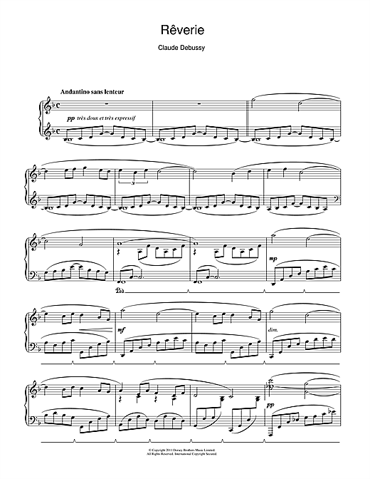 debussy reverie piano sheet music pdf