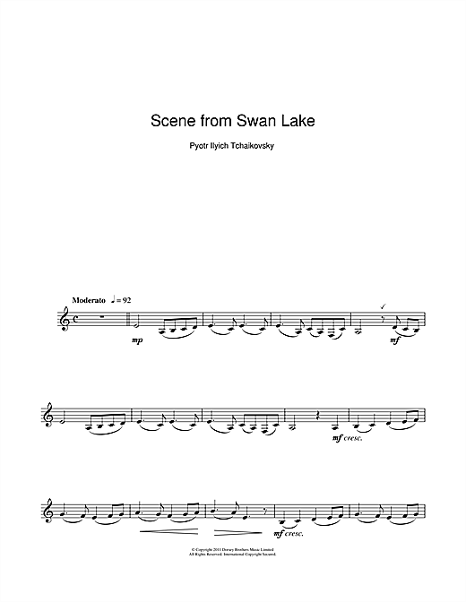 Scene from Swan Lake Sheet Music