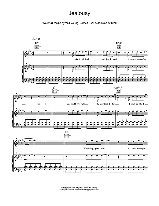 Jealousy Sheet Music