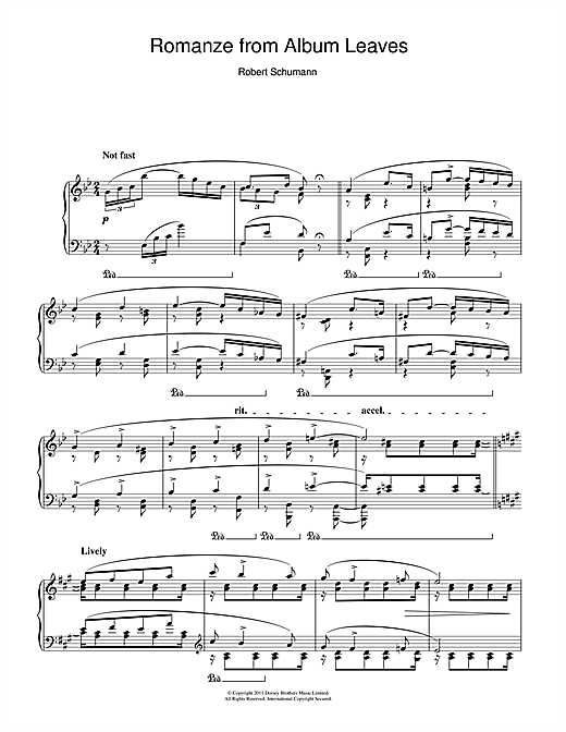 Romanze from Album Leaves Sheet Music