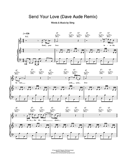 Send Your Love (Dave Aude Remix) Sheet Music