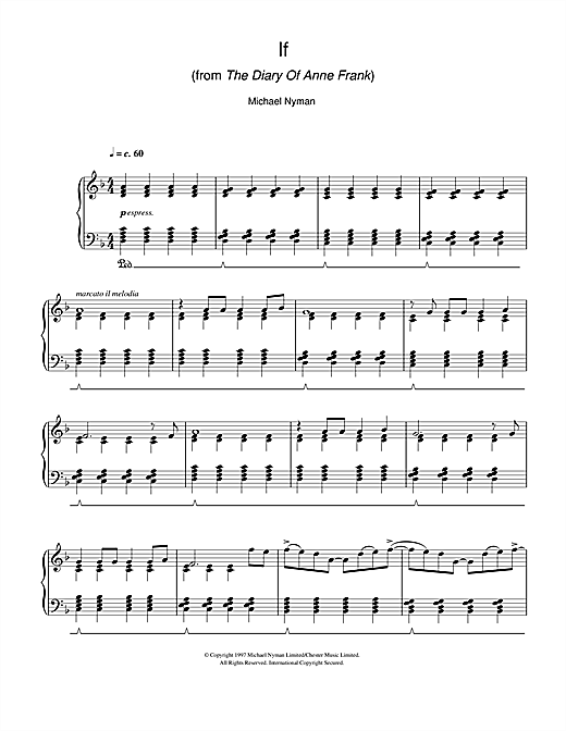 If (from The Diary Of Anne Frank) Sheet Music