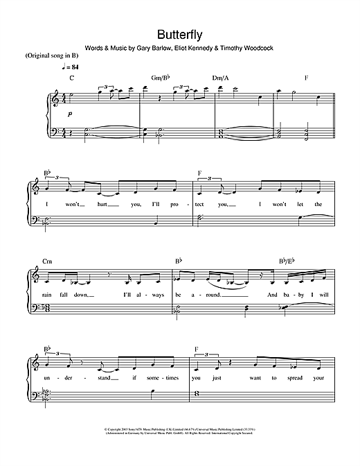 Butterfly Sheet Music