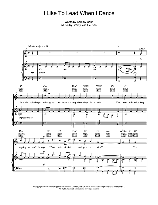 I Like To Lead When I Dance Sheet Music