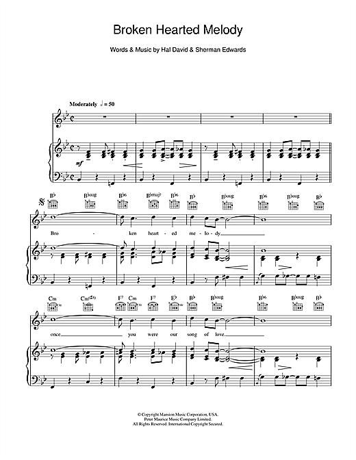 Broken Hearted Melody Sheet Music