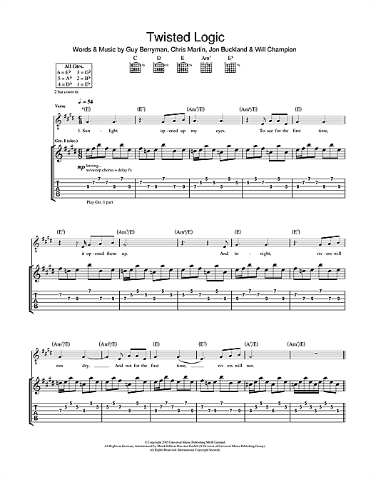 Twisted Logic (Guitar Tab)