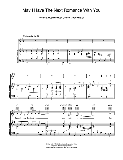 May I Have The Next Romance With You? Sheet Music