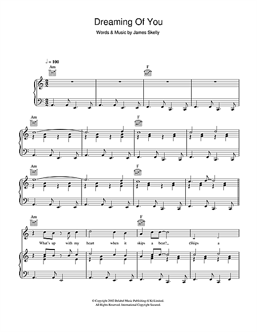 Dreaming Of You Sheet Music