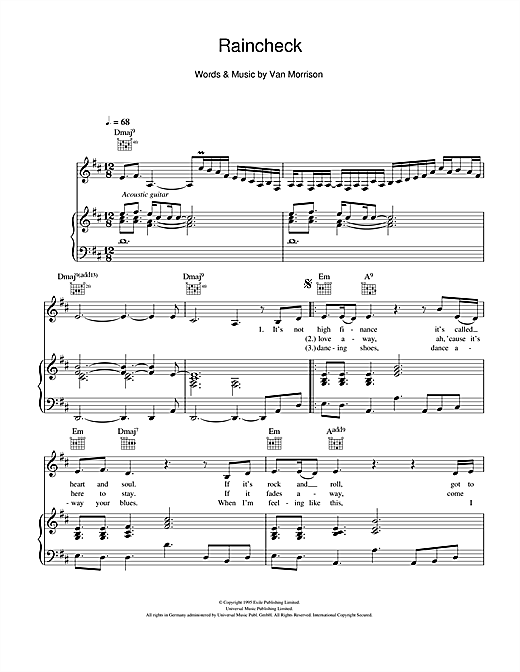 Raincheck Sheet Music