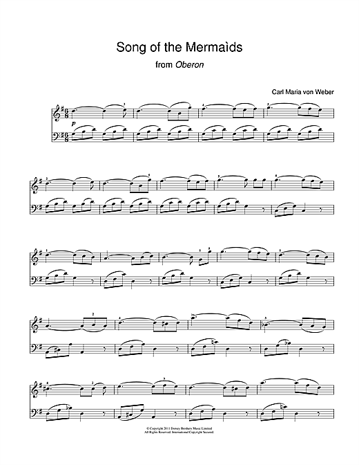Song Of The Mermaids (From Oberon) Sheet Music