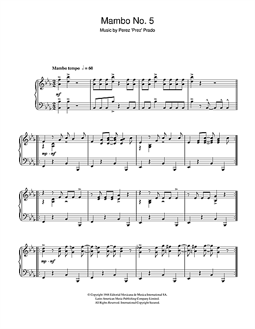 Mambo No. 5 Sheet Music