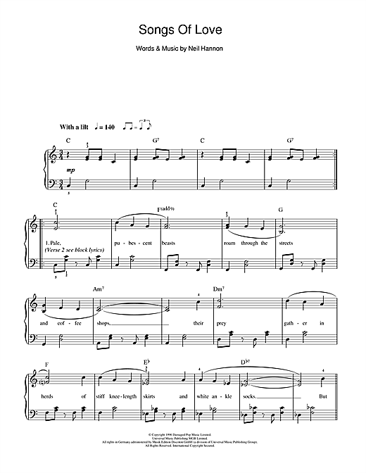 Songs Of Love Sheet Music