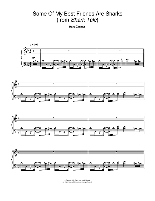 Some Of My Best Friends Are Sharks (from Shark Tale) Sheet Music