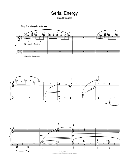 Serial Energy Sheet Music