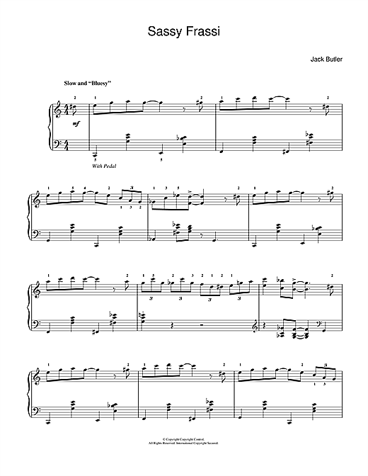 Sassy Frassi (in 'blues' style) Sheet Music