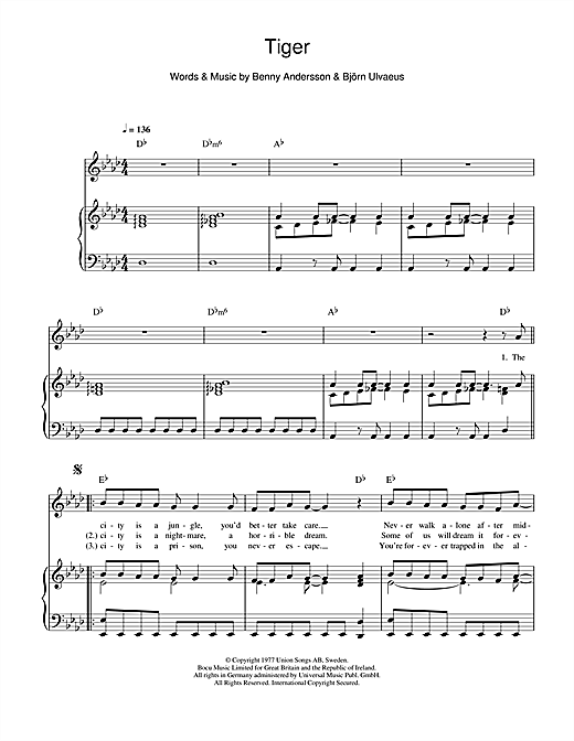 Tiger Sheet Music
