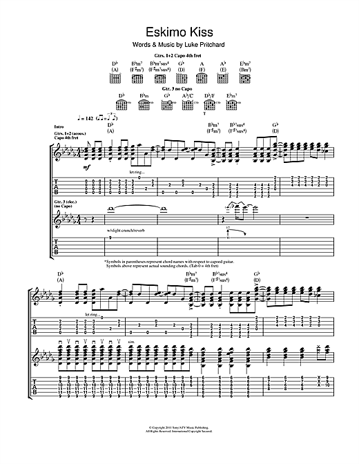 Eskimo Kiss Sheet Music