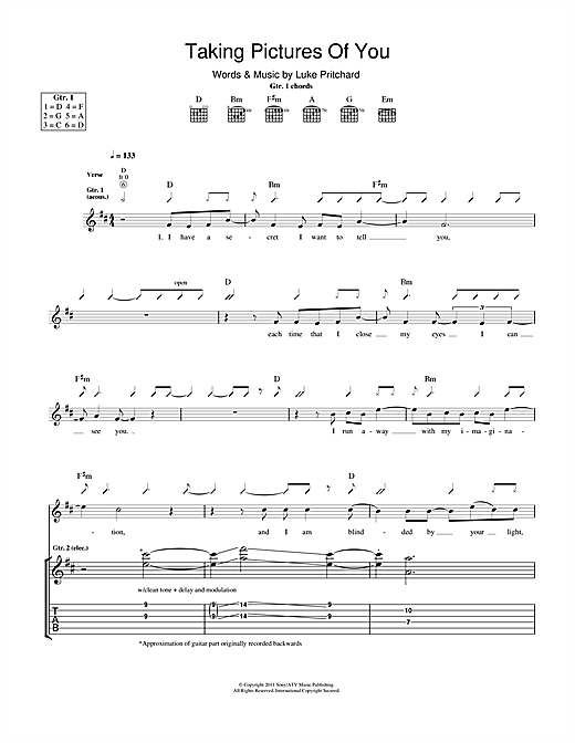 Taking Pictures Of You (Guitar Tab)