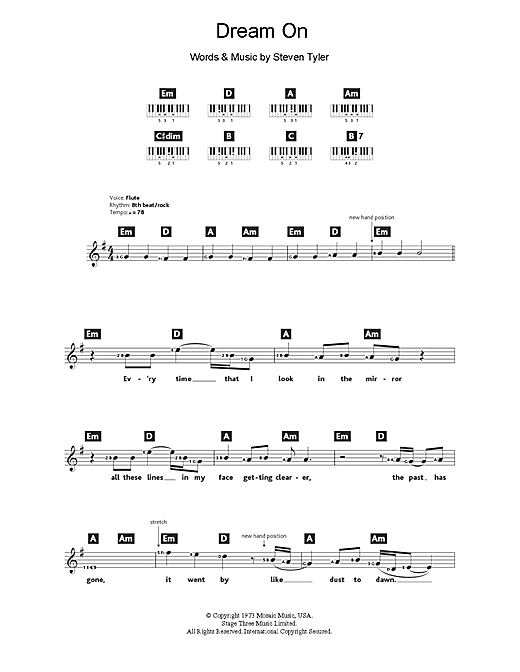 Dream On Sheet Music