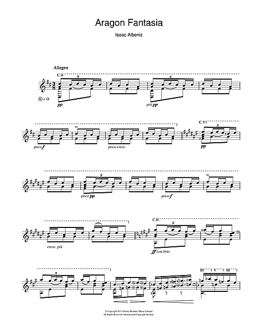 Aragon Fantasia Sheet Music