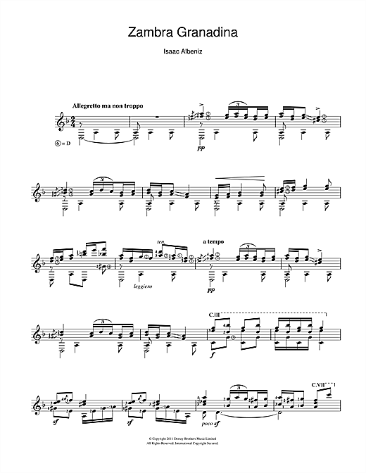 Zambra Granadina Sheet Music