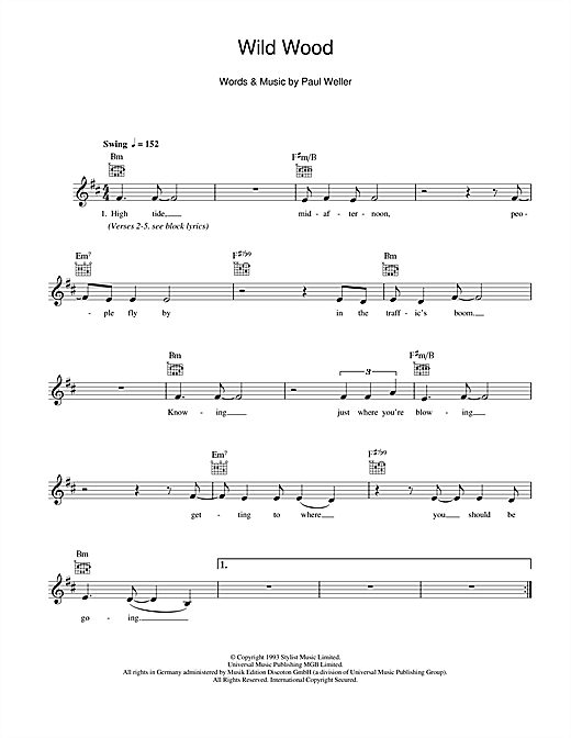 Wild Wood Sheet Music