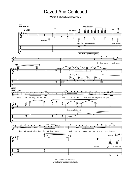 Dazed And Confused (Guitar Tab)