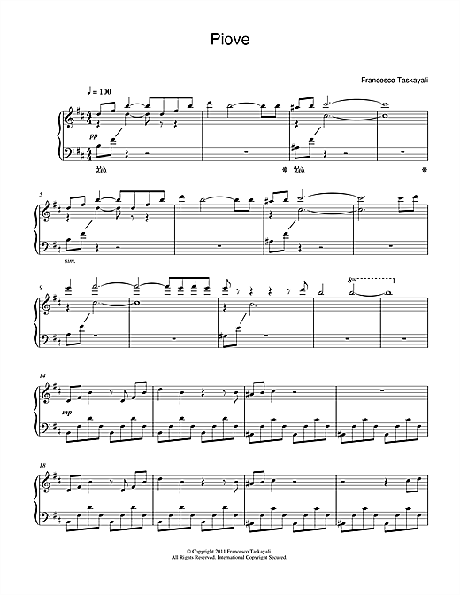 Piove Sheet Music