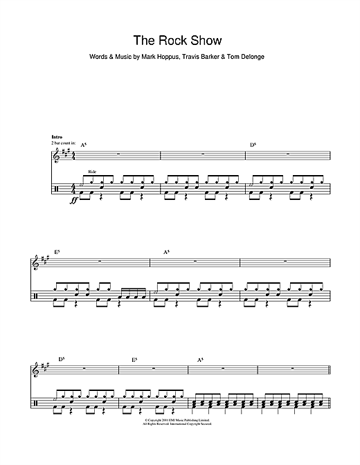 The Rock Show Sheet Music