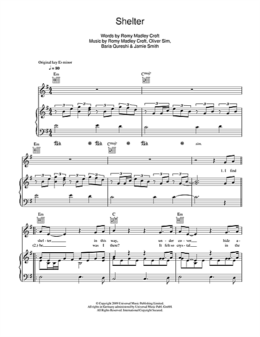 Shelter Sheet Music