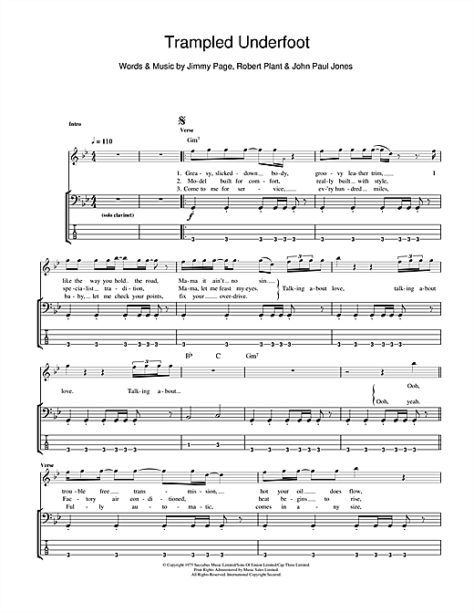 Trampled Underfoot Sheet Music