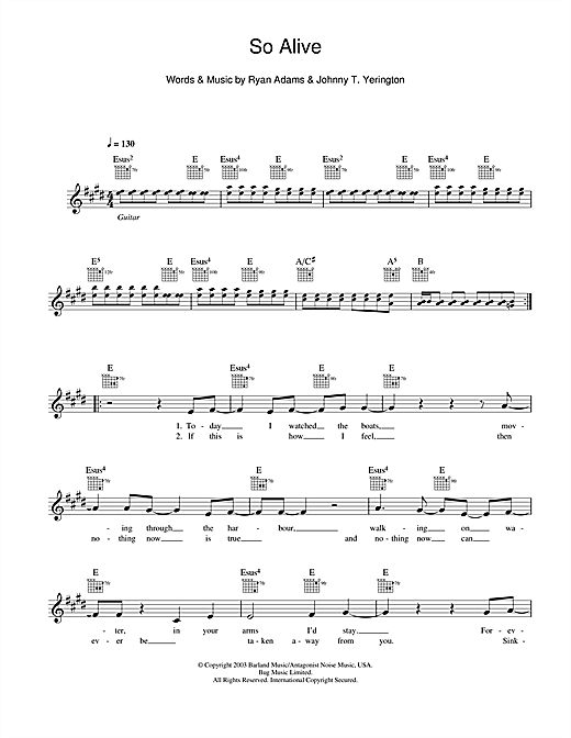 So Alive Sheet Music